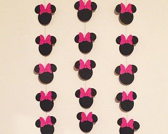 Minnie Mouse Birthday Garland