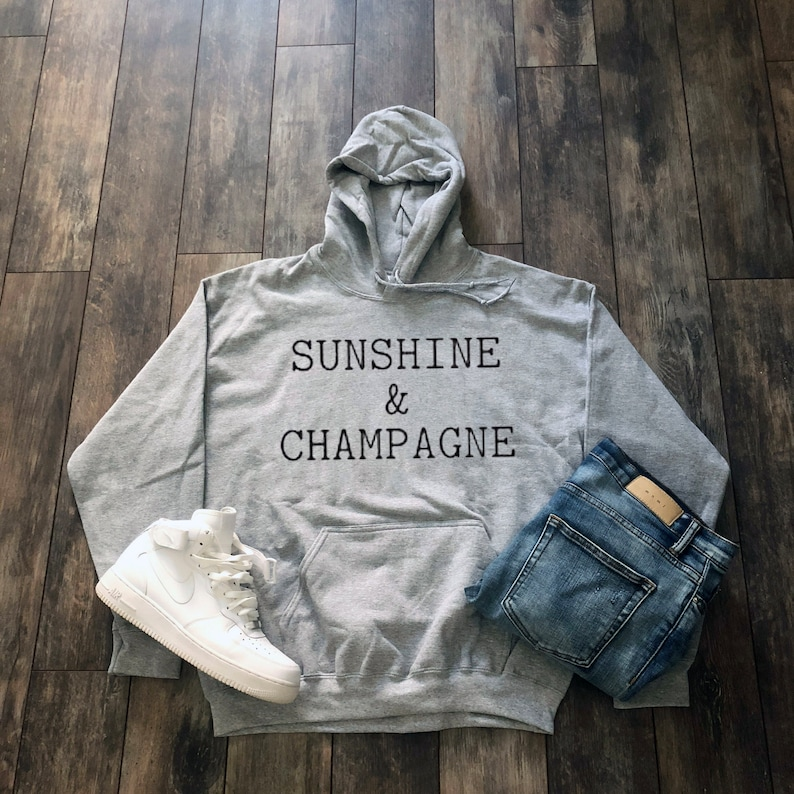 Sunshine Champagne Hoodie Tumblr Aesthetic Clothing Beer Etsy
