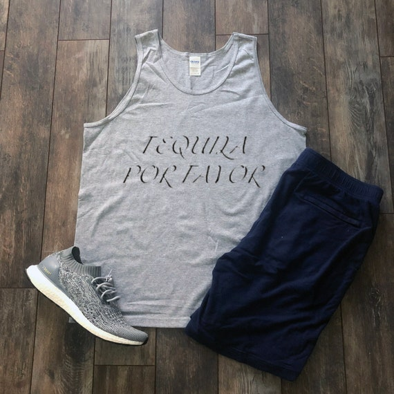 Tequila Por Favor Tank Wine Aesthetic Clothing Champagne Etsy