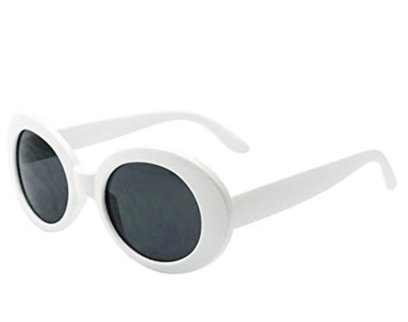 940a70eed1 White Oval Round Retro Clout Goggles Hippie Clothes