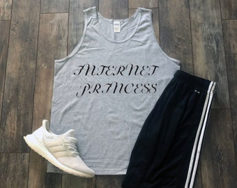 Internet Princess Tank Top Aesthetic Clothing Gift For Her Tumblr Clothing Tumblr Shirt Hippie Clothes Kawaii Clothing Quotes Inspirational