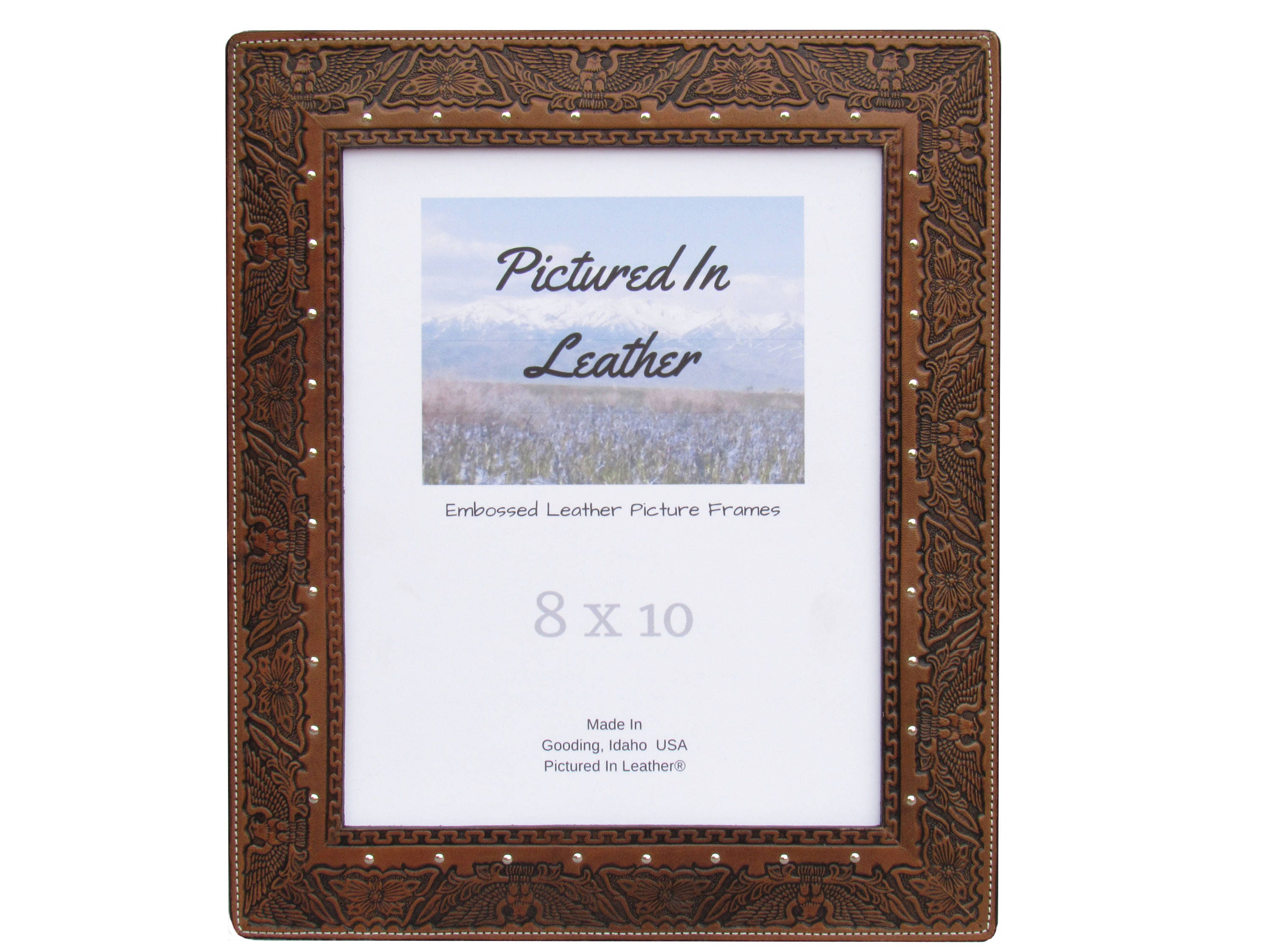 8x10 Eagle picture frame, 8x10 leather picture frame, patriotic ...