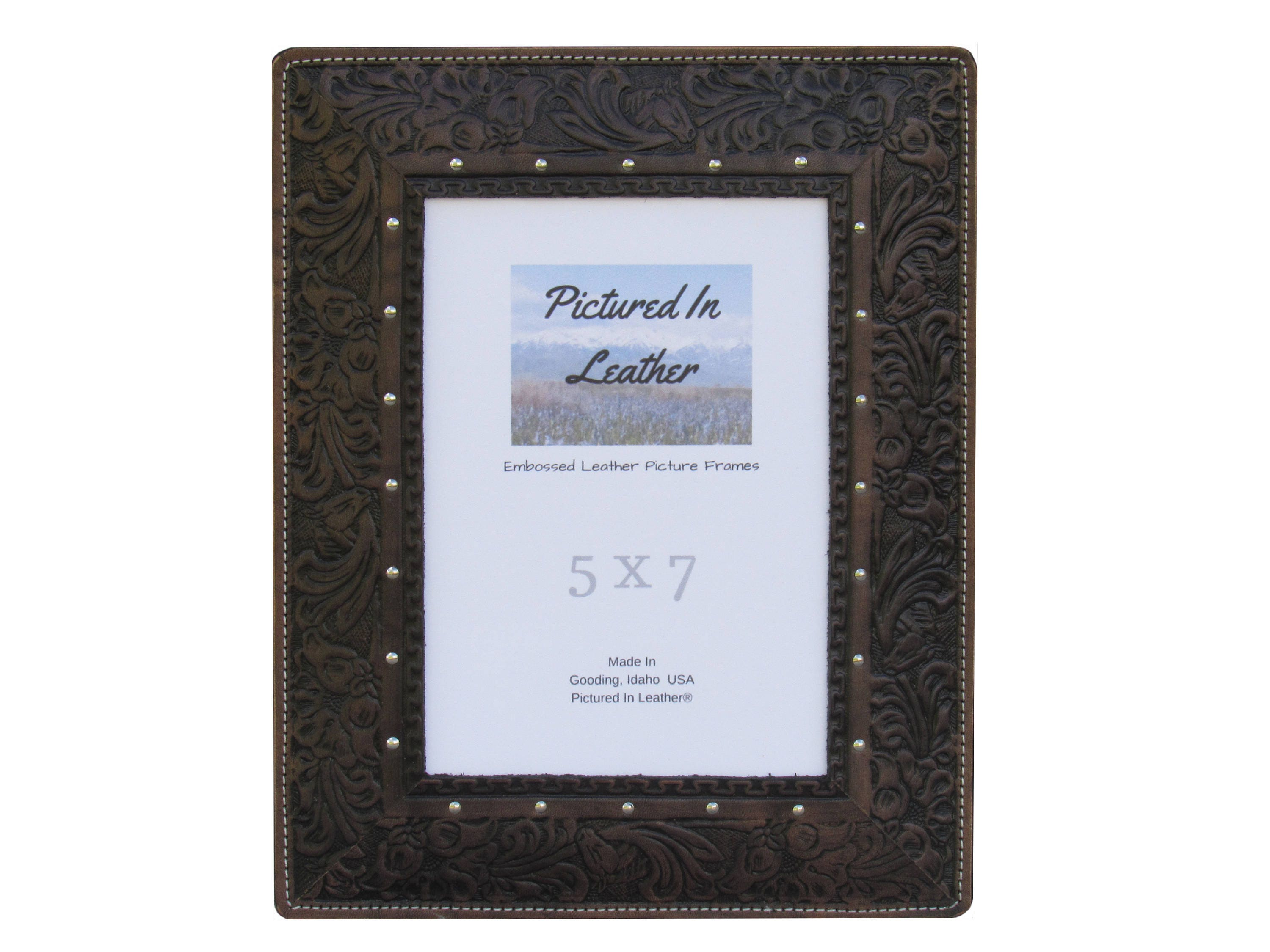 leather anniversary for him, leather photo frame, 5x7, 3rd