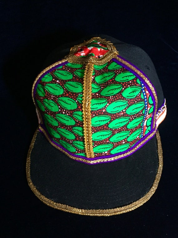 Hand made one of a kind snapback hat custom hat festival hat  23fcc00c553c
