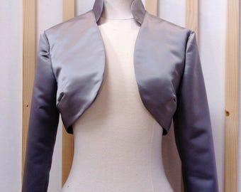 Bridal bolero, bolero gray, satin bolero, satin jacket, bridal jacket, bolero wedding, bolero colo mao