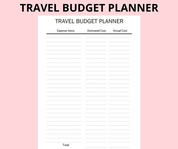 travel holiday trip planner itinerary planner accommodation etsy