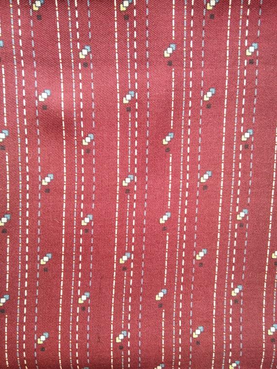 Men's Vintage Burgundy Silk Scarf