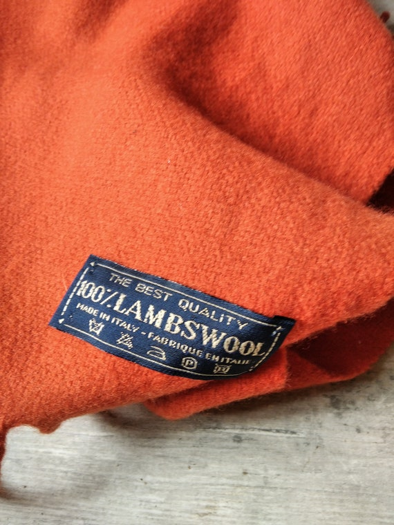 Pure wool wool orange woven wool scarf - image 2