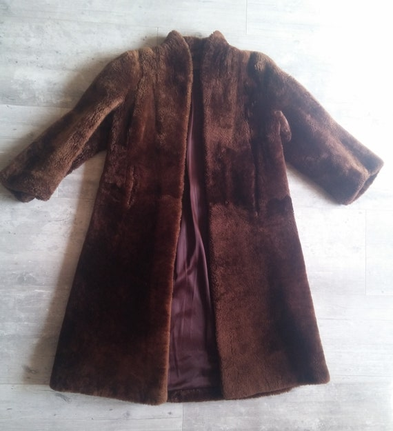 Vintage French golden sheep coat REVILLON Fur vint