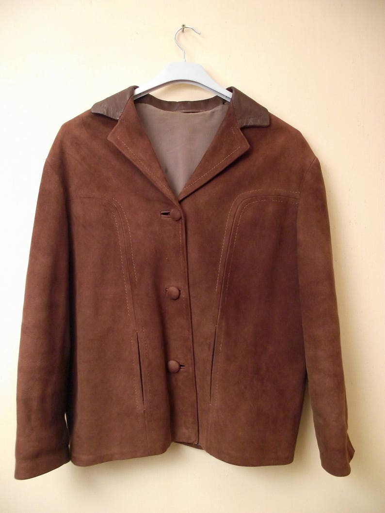 Coat Suede Brown Homme Vintage Man Marron Femme Veste Daim Jacket reCBodx