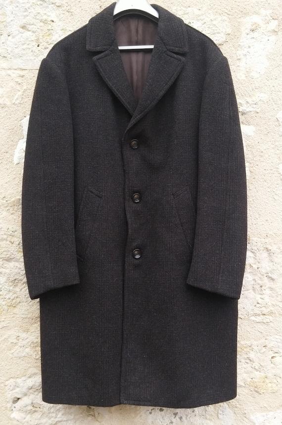 Vintage wool overcoat man Overcoat vintage man