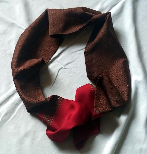 Vintage silk scarf Geometric pattern men,Men's Sil
