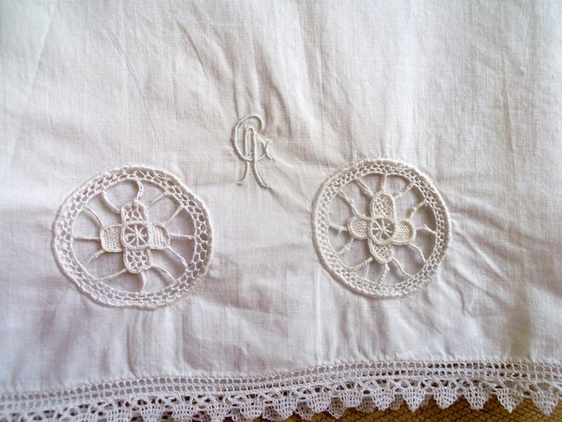 Vintage shorts year old embroidered monogrammed Vintage panties year 50 embroidered monogramd