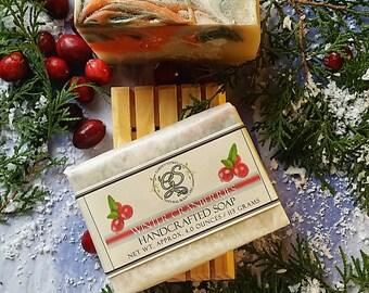 Cranberry, Handcrafted Soap, Stocking stuffer, Gift soap, Natural Soap, Vegan soap, Handmade bar soap