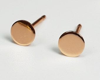 4fc8239f1 Dot Stud Earrings, Gold Dot Earrings, Circle Stud Earrings, Rose Gold Round  Earrings, Minimal Post Earrings, Dainty Dot Earrings, Minimalist