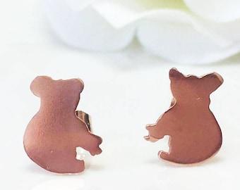 Koala Earrings,Koala Bear Stud Earrings, Silver Koala Earrings, Animal Studs, Australian Jewellery, Australian Souvenir Gift Idea for her