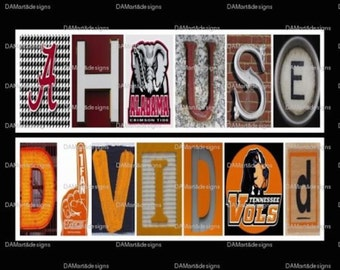 College House Divided  Alphabet Art