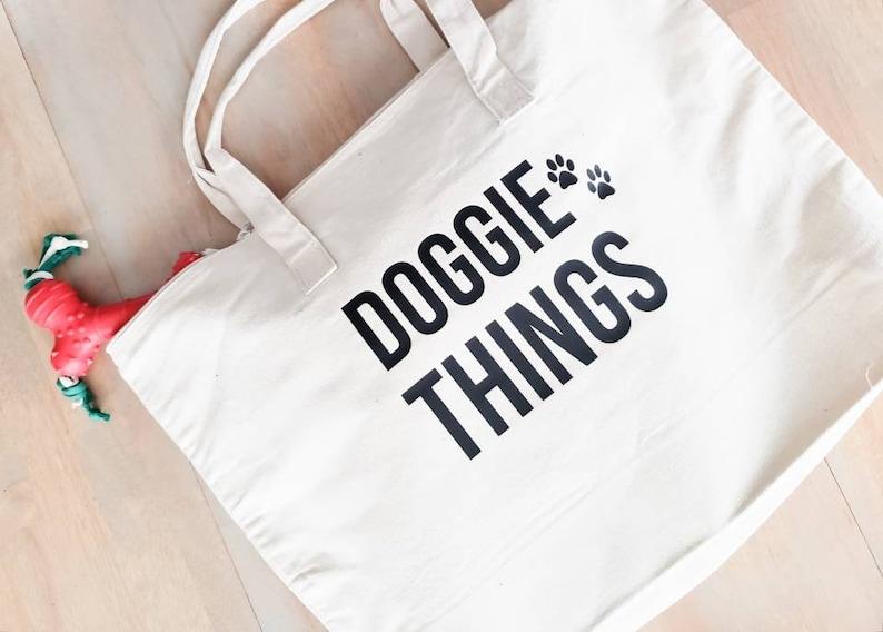 Dog Gift Dog Owner Gift Doggie Things Bag Dog Tote Bag Gift for Dog Owner Dog Things Tote Dog Tote Dog Bag Dog Lover Gift