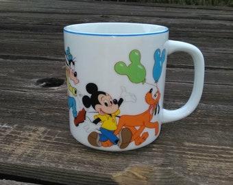 Vintage MICKEY Mouse Disney World MUG*DISNEY Characters Mug*Vintage Disneyland Mug*Disney Coffee Tea Mug*Disney Characters Parade Coffee Cup