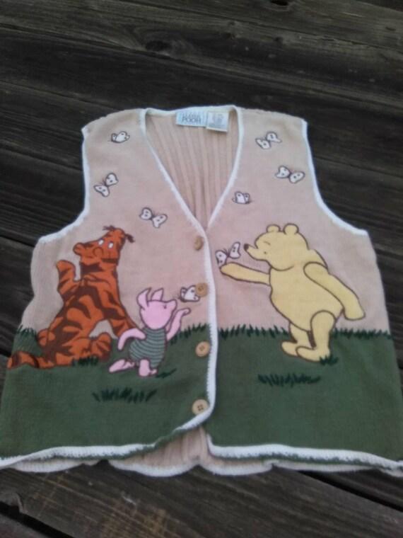 WINNIE the POOH Clothing VESTVintage Winnie the Pooh Sweater  d0e5ce48bd12