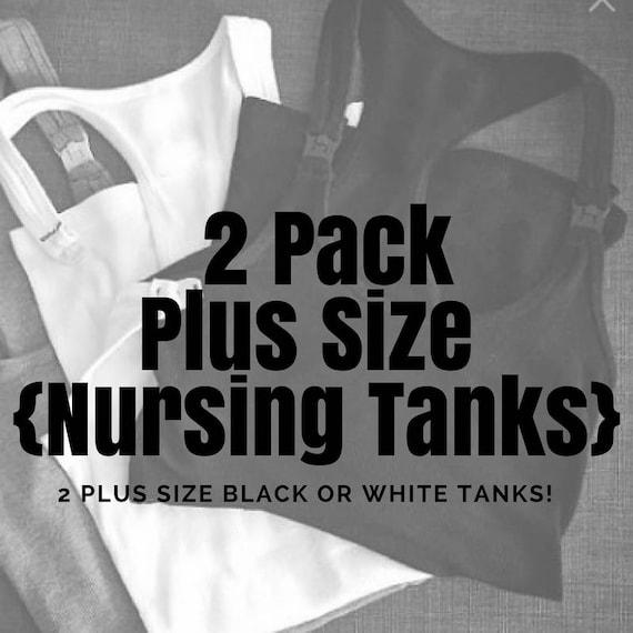 210b78268d7 Plus Size 2 Pack of Nursing Tanks XL ONLY // Maternity // | Etsy