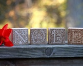 NOEL holiday wood blocks ...