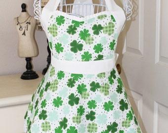Lucky Shamrocks - St. Patrick's Day Apron