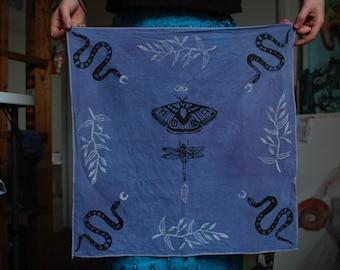 Garden Magick Bandana // Wall Hanging // Altar Cloth