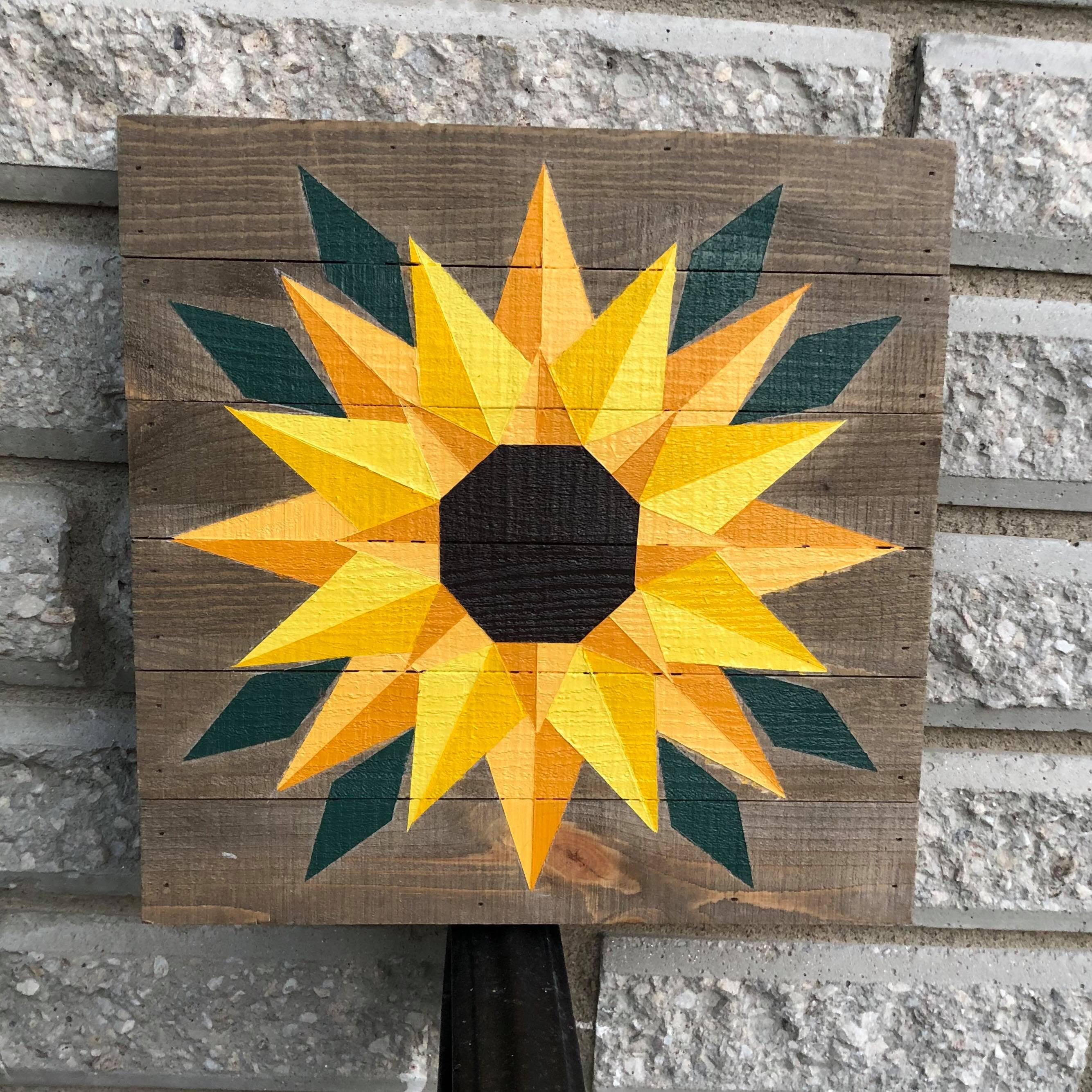 Sunflower Barn Quilt Etsy