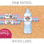 Paw Patrol / Water Bottle Label - PRINTABLE
