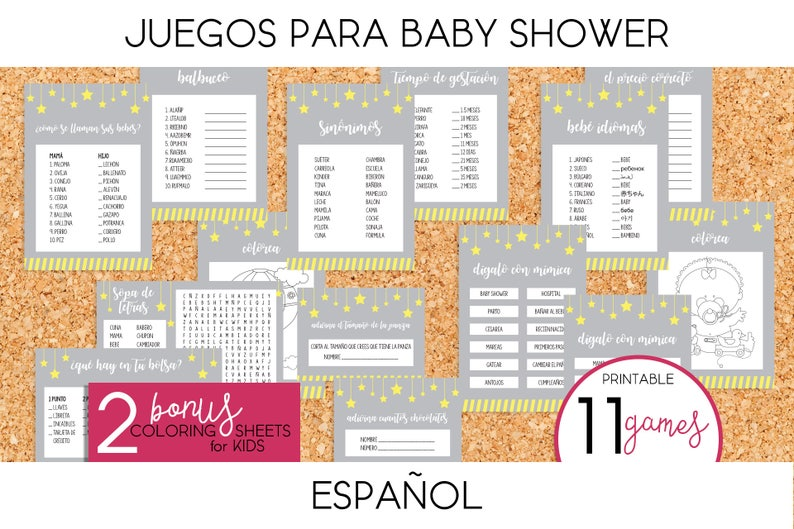 Juegos Para Baby Shower Twinkle Twinkle Etsy