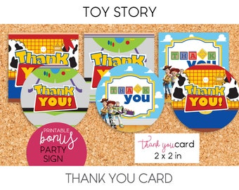 Toy Story / Thank You Cards, Party Sign - PRINTABLE