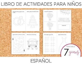 Libro de Actividades para Niños/Niñas en Bodas - PRINTABLE (Spanish)