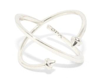 Ring Creator Fantasy Silver ZUQAQIP Ring Cross FinishIng Picks Silver Original Gift Idea Handmade Christmas Ring Shape X Fashion Trend