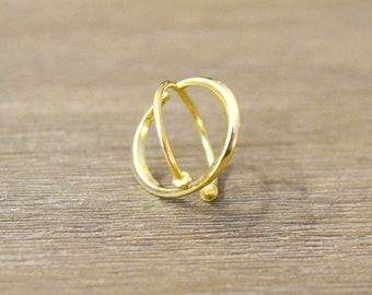Ring Fantasy Gold ZUQAQIP Cross Finish Peaks Ring Gold Adjustable Gift Idea Christmas Original Birthday Creator Ring Handmade AJMAAR