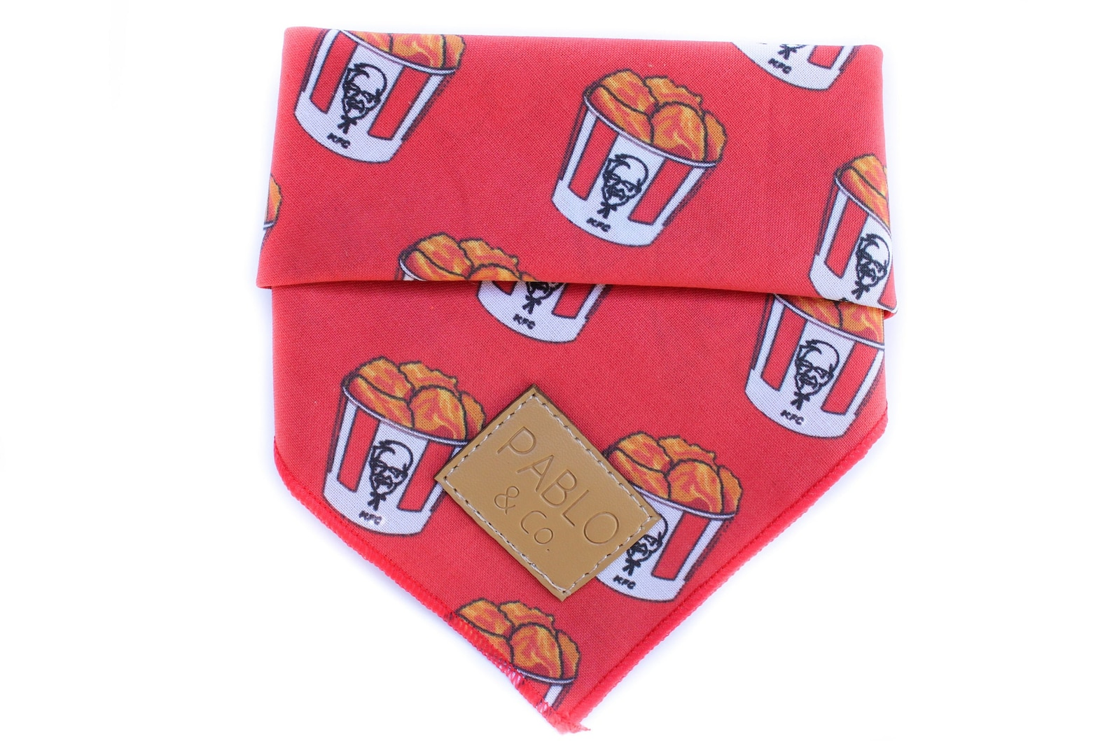 KFC print dog bandana