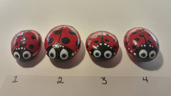 Buy Multiples Better Deal Cute Hand Painted Ladybug Stone Waterproof Rock  Stocking Stuffer Garden Ornament Art Gift for Gardener Ladybird