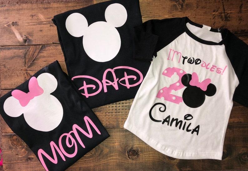ec2c824a8 Minnie Mouse Family Birthday Set family shirts family | Etsy