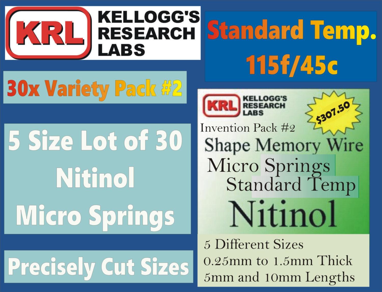 30x NITINOL MICRO SPRINGS 0.25-1.5mm Thick Standard