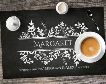 Printable Placemat Template Personalized For Bridal Showers Etsy