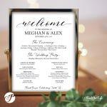 Wedding Program Sign, Wedding Program Poster, Ceremony Program