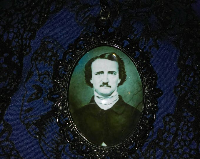 Edgar Allan Poe Cameo Pendant Necklace