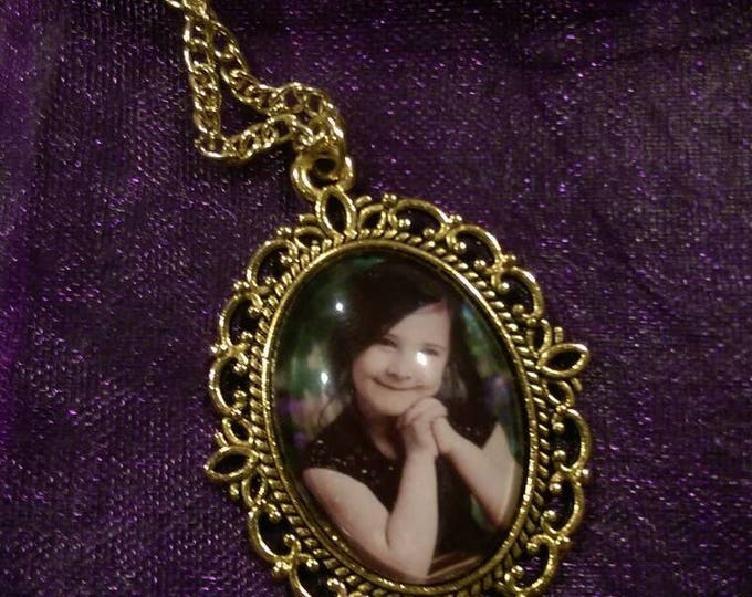 Customizable Pendant Necklace--Supply Your Own Photo!