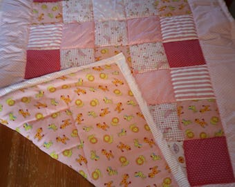 Baby girl pink quilt
