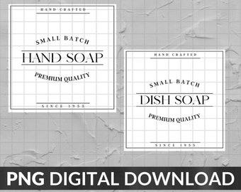 DIY Soap Dispenser Labels - Digital Download for DIY