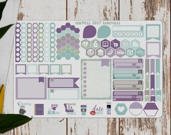 INKWELL PRESS PLANNER Stickers // Purple & Aquamarine // Erin Condren // inkWell Press // Happy Planner // Planner Stickers