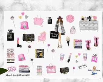 CHANEL STYLE STICKERS // Deco Sticker Sampler // Fashion Girls Stickers // Fashion Sticker