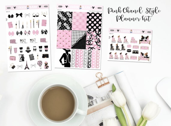 a5d72f1a8f95 Chanel style bows and planner supplies planner stickers etsy jpg 570x420 Pink  chanel icons