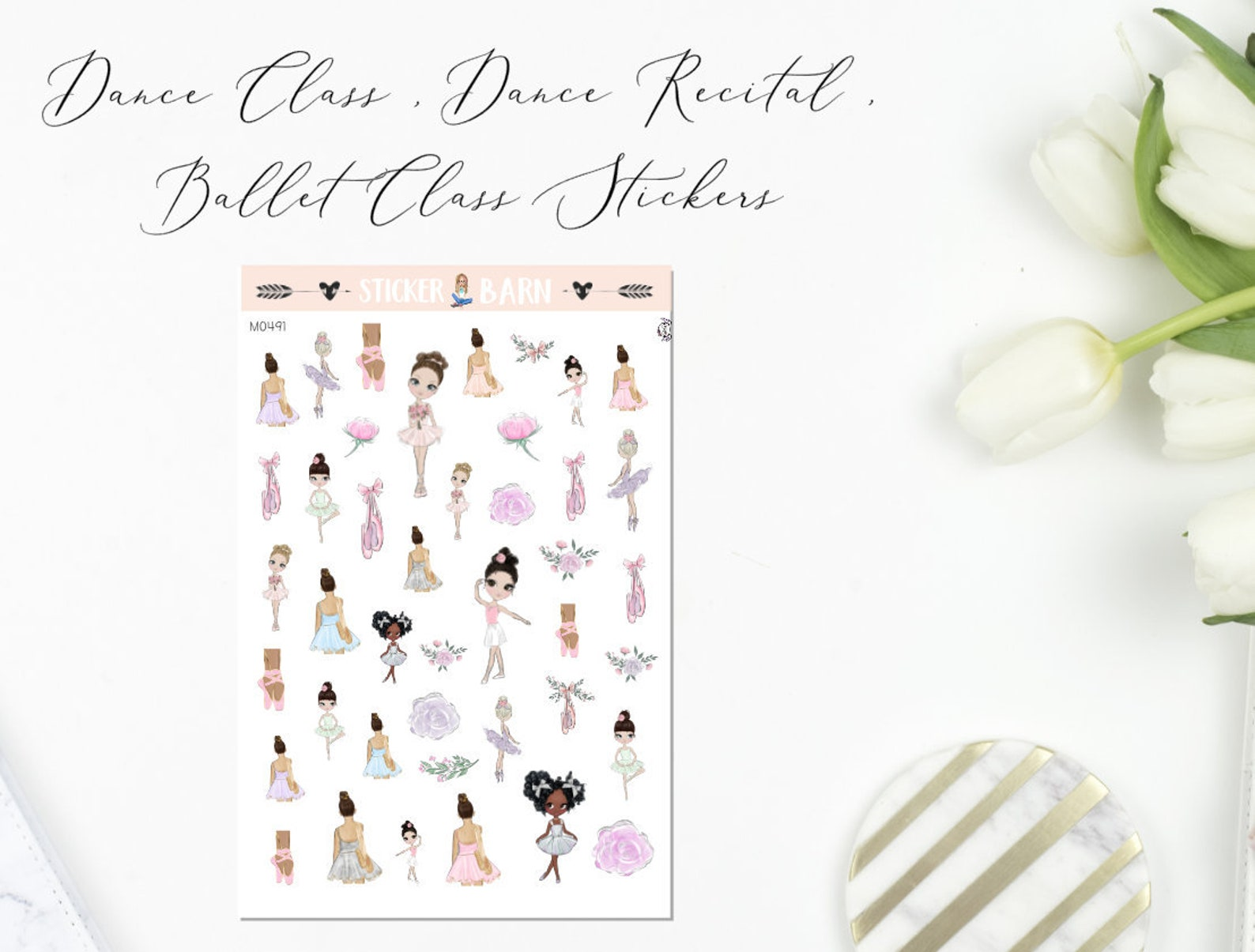 ballerina girls and shoes ballet planner stickers | perfect for erin condren, limelife, mambi and plum paper planners