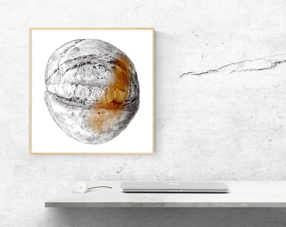 Kitchen Poster Canvas Canvas Printing Bread Drawing